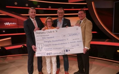 Der Elephants Club  hat uns 10.000 ,- Euro gespendet!
